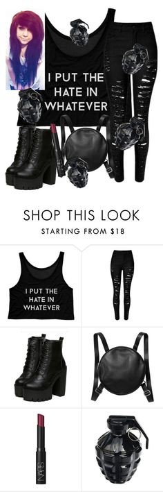 """""""OC Nina Hate #BOOM!"""" by winternightfrostbite ❤ liked on Polyvore featuring Monki, NARS Cosmetics, MollaSpace, women's clothing, women, female, woman, misses and juniors"""
