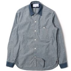 Wind Shirt Cotton Chambray Selvedge