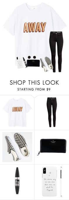 """today was lovely... how was yours??"" by ctrygrl1999 ❤ liked on Polyvore featuring MANGO, Vans, Kate Spade, Maybelline and Humble Chic"