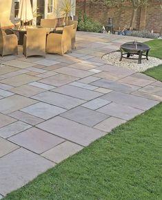 Autumn Brown Sandstone – Indian Sandstone Paving – Nustone - All For Garden Paving Stone Patio, Sandstone Paving, Patio Slabs, Paving Stones, Garden Slabs, Garden Paving, Sun Garden, Garden Hose, Back Garden Design