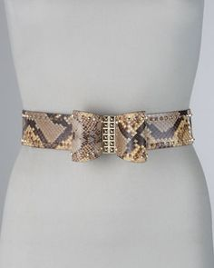 Studded Python Bow Belt by Valentino at Neiman Marcus.