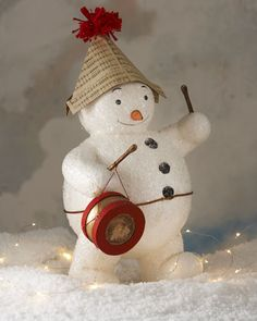 a779d4728df3e0 pearlriverworld — (via Bethany Lowe Snowman with Instruments... Funny  Snowman