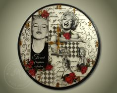 A large wall clock, 45cm, which I made for an excepional teeneger as a Christmas gift... such an exceptional like the icon MM.