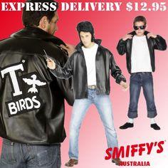 MENS/BOYS GREASE T-BIRD 50S ROCK N ROLL SMIFFYS FANCY DRESS COSTUMES/JACKETS #SMIFFYS #Everyday