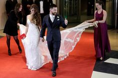 Lionel Messi gives the thumbs up after marrying childhood sweetheart Antonella Roccuzzo in Rosario, Argentina