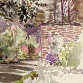 Beatrix Potter, Sketch of the garden at Gwaynynog