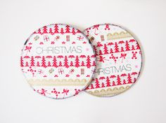 Christmas Washi Coasters
