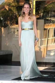 next Navy Ball, perhaps?    Kristin Cavallari in Maria Lucia Hohan @ the marine corps ball 2011.. love this look and the color of the dress!