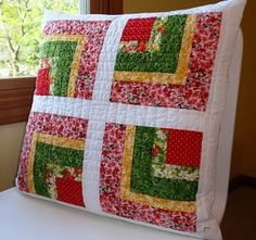strawberry lemonade bento box quilted pillow 2010