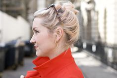 Shaun Leane Large Gold Hook Earrings. indetail, LFW SS2013