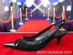 $89 Womens shoe BANDOLINO Dress High Heel Slingback LEATHER Pointy Cap toe 7.5 M #Bandolino #Slingbacks