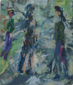 Stella Downer Fine Art - Dealer Consultant & Valuer - Featuring work by Rod Holdaway - Saturday In The Park