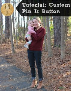 Tutorial: how to create a custom pin-it button for free, and also free code for a gold glitter pin it! button.
