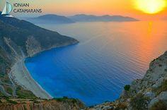 Sunset at Myrtos Beach Kefalonia Greece Greece Tourism, Greece Travel, Santorini, Mykonos Greece, Myrtos Beach, Greece Vacation, Greece Honeymoon, Best Sunset, Beach Fun