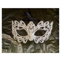 Rhinestone Crystal Masquerade Mask/Masquerade Wedding/Halloween Mask ❤ liked on Polyvore featuring costumes, crystal costume, masquerade halloween costumes and masquerade costume