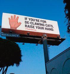 Paw project anti declawing billboard