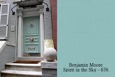 Great front door color- Simplified Bee®: Colorful Designer Front Doors and Paint Samples Door Paint Colors, Front Door Colors, Exterior Paint Colors, Exterior House Colors, Diy Exterior, Teal Paint, Bungalow Exterior, Wall Colors, Exterior Design