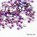 SS6 1.9-2.0mm Siam AB rhinestones Crystal AB Non HotFix FlatBack Glass Nail Art Rhinestones