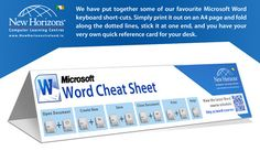 Our latest Microsoft Word Cheat Sheet with all our favourite Word keyboard short-cuts now available to download: http://www.nhireland.ie/resources/downloads