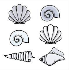 Seashells - Cartoon Vector Illustration