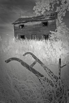abandoned farm and implement