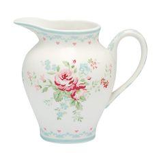 Greengate Stoneware Creamer Abelone White H 8 cm