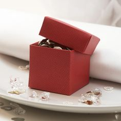 Burgundy Favour Box