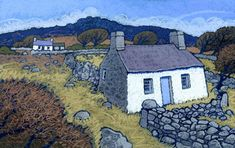 Products Archive - Page 4 of 8 - Chris Neale Landscape Artist Cottage Art, Painted Cottage, Graphic Eyes, Funky Art, Naive Art, Pictures To Paint, Illustrations, Limited Edition Prints, Print Artist