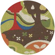 """Momo, Avant-Garden, Linen, Scenic Fantasia Clover    Fabric is sold by the 1/2 Yard. For example, if you would like to purchase 1 Yard, you would enter 2 in the Qty. box at Checkout. Yardage is cut in one continuous piece.  Examples:  1/2 yard = 1 1 yard = 2 1 1/2 yards = 3 2 yards = 4  1/2 Yard Measures 18"""" x 44/45""""   Fiber Content: 70% Cotton/ 30% Linen  Hover over image for a larger, better view."""