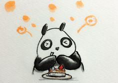 2014.3.28 【一日一大熊猫】 パンダは甘党らしいよ。 たしかにリンゴとか大好きだもんね。 #パンダ
