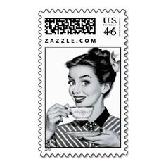 Shop tea/coffee postage created by lostlit. Vintage Housewife, Good Morning Coffee, Soap Making, Best Gifts, Stamp, Tea, Prints, How To Make, Invites