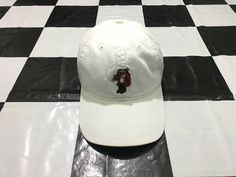 Vintage Polo bear ski cap leather strapback White Excellent condition Polo bear by Ralph Lauren by AlivevintageShop on Etsy