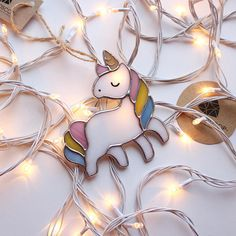 Miracles where they are believed, and the more they believe, the more often they happen :) Believe in miracles and in unicorns :) The toys are made of colored stained glass completely manually. The parts are soldered together by tin. Toys are sold complete with original