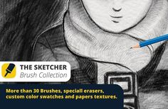 The Sketcher Collection Brushes by DaniMad Brushes on @creativemarket