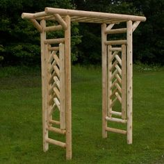 Cedar log pergola | outdoor & patio log furniture