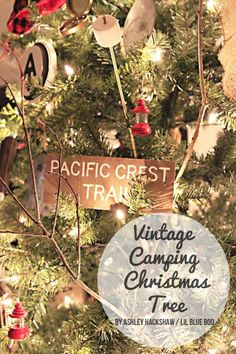Vintage Camping Theme Tree - MichaelsMakers Lil Blue Boo Dream Tree Challenge 2015