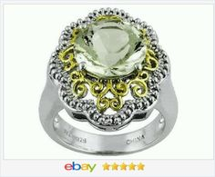 60% OFF #ValentinesDay #EBAY http://stores.ebay.com/JEWELRY-AND-GIFTS-BY-ALICE-AND-ANN  Genuine Green Amethyst Prasiolite Ring size 7 USA Seller