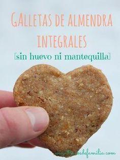 Galletas de almendra integrales sin huevo ni mantequilla #receta #vegana #recetas #ideas