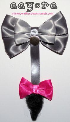Eeyore Hair Bow. $9.00, via Etsy.