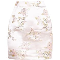 Champagne Oriental Jacquard Mini Skirt ($18) ❤ liked on Polyvore featuring skirts, mini skirts, bottoms, jacquard, off white skirt, short mini skirts, champagne skirt, mini skirt and short skirts