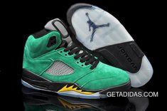 6b3ec254c09 Jordans 5 Green Black Yellow Grey TopDeals