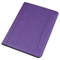 Juscha 101910 - Portafolio fabricado en símil piel con bloc incorporado formato A4, color lila