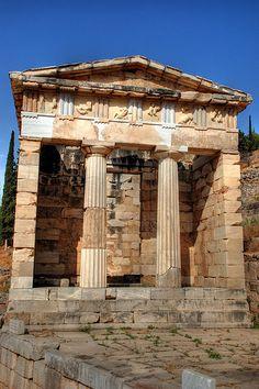 Treasury of the Athenians, sanctuary of Apollo, Delphi, Greece