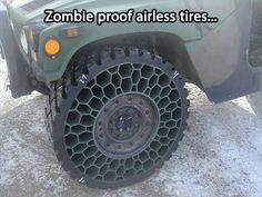 Zombie proof airless tires.