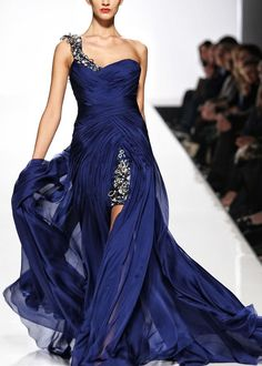 absolutely gorgeous. that deep blue with the detailing.. bravissimo!