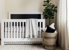 Simple Ways to Set Up Your Nursery– these are our favorite tips and tricks for designing an organized, simplified nursery that is beautiful AND functional! Nursery Design, Nursery Decor, Baby Boy Nurseries, Simple Way, New Moms, Cribs, The Good Place, Storage, Bed