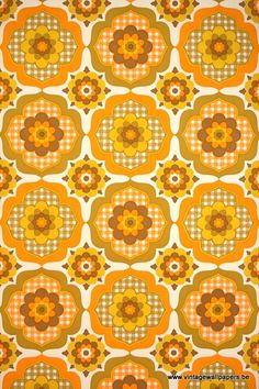 CommentVINYL WALLCOVERING Design indoor rainbow, manufactured by Crown. Repeat 36 cm  ColoursWhite, Brown, Terracotta, Orange, Yellow,
