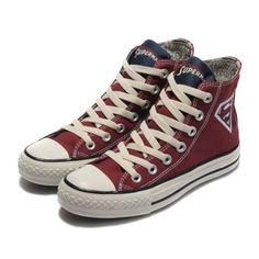 1259335690ea Converse Shoes burgundy Authentic DC Comics- Superman Chuck Taylor All Star  Womens Mens Canvas Sneakers High Tops - eurshirt Shop