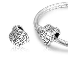 NEONBLOND Custom Charm I Love Royal Arrival Cocktail 925 Sterling Silver Bead
