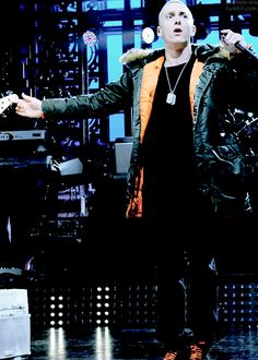 Eminem... In a cute coat :O xx